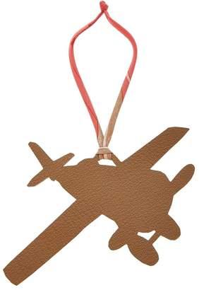 Hermes Brule & Black Reversible Chevre de Coromandel Petit H Plane Charm