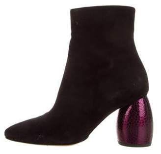 Dries Van Noten Suede Ankle Boots Black Suede Ankle Boots
