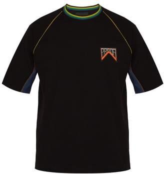 Prada Logo Patch Cotton Pique T Shirt - Mens - Black Multi