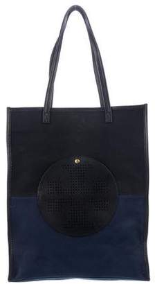 Tory Burch Colorblock Canvas Tote