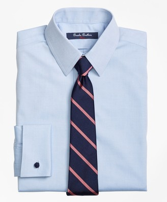 Brooks Brothers Boys Non-Iron Supima Pinpoint Cotton French Cuff Dress Shirt