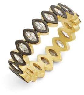 Freida Rothman 'Double Helix' Marquise Cubic Zirconia Band Ring