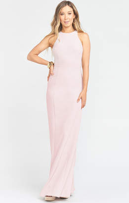 Show Me Your Mumu Chicago High Neck Gown ~ Vintage Rose Stretch Crepe