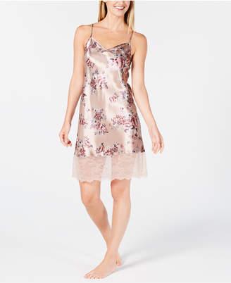 Thalia Sodi Printed Lace-Trim Chemise