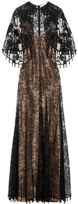Givenchy - Cape-effect Embellished Chantilly Lace Gown - Black $10,525 thestylecure.com