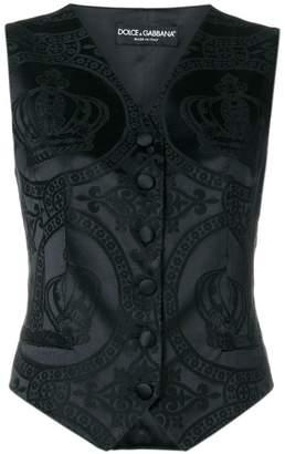 Dolce & Gabbana jacquard vest
