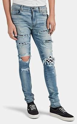 Amiri Men's Art Patch Distressed Skinny Jeans