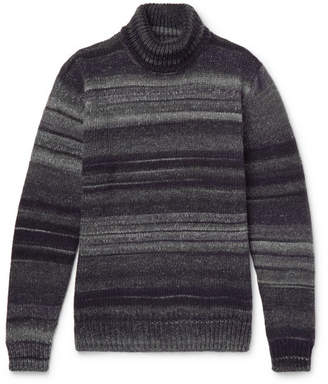 Altea Striped Wool-Blend Rollneck Sweater