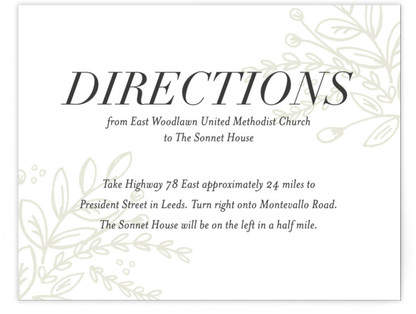 Graceful Directions Cards