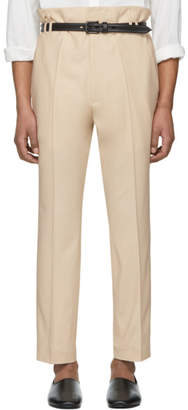Haider Ackermann Off-White Selenite Double-Waisted Trousers