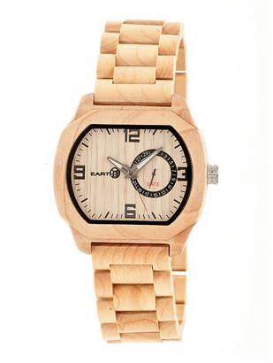 Earth Wood Scaly Khaki Bracelet Watch with Date ETHEW2101