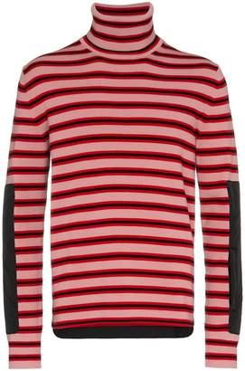 Moncler stripe high neck wool jumper