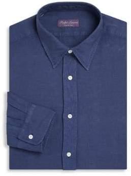 Ralph Lauren Purple Label Regular-Fit Silk& Linen Dress Shirt
