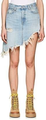 R 13 Women's Tilly Denim Asymmetric Miniskirt