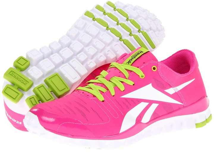 Reebok - RealFlex Fusion TR (Dynamic Pink/White/Charged Green) - Footwear