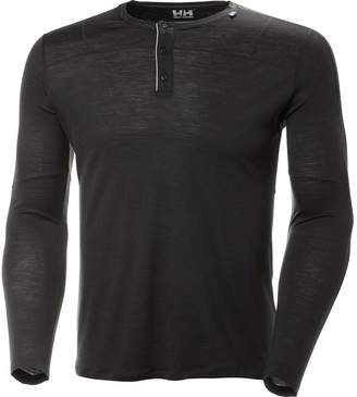 Helly Hansen Merino Light Button Long-Sleeve Top - Men's