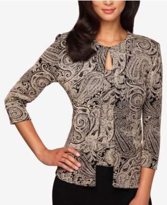 Alex Evenings Plus Size Glitter-Print Jacket & Shell