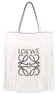 Loewe Vertical Fringe Leather Tote Bag