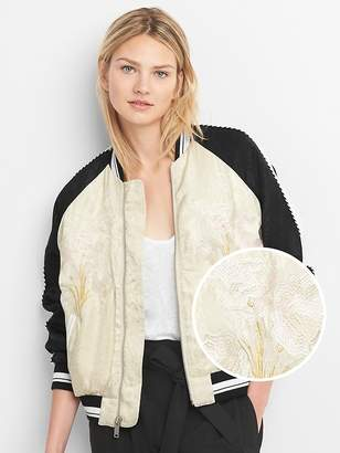 Gap Limited Edition Embroidered Jacquard Bomber Jacket