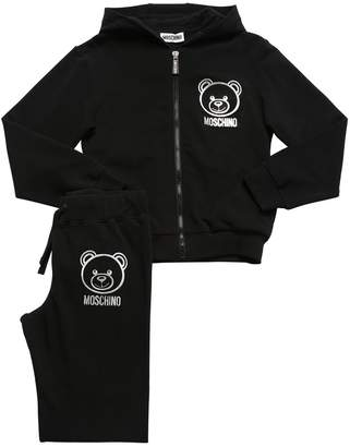 Moschino TOY COTTON SWEATSHIRT & SWEATPANTS
