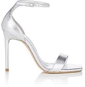Saint Laurent Women's Amber Metallic Leather Sandals - Platinum