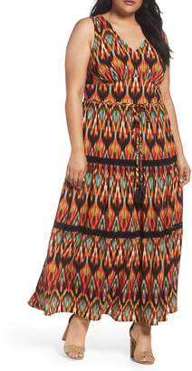 London Times Bubble Print Maxi Dress