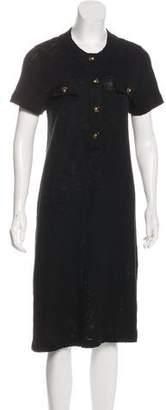 Tory Burch Scoop Neck Midi Dress