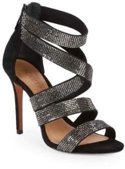 Schutz Metallic Stiletto Sandals