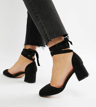 Asos Design DESIGN Wide Fit Sorrow mid heels