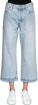 Levi's Cropped Flared Spliced Denim Jeans