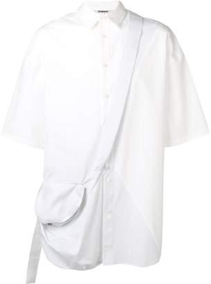 Chalayan cross body strap shirt