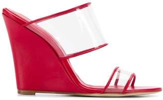 Paris Texas wedge heel sandals