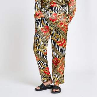 River Island Jaded yellow zebra print pants