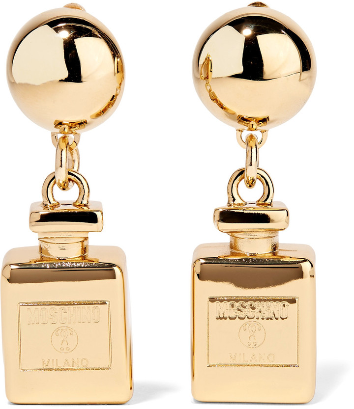Moschino Moschino Gold-plated clip earrings