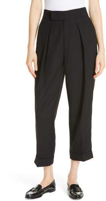 Polo Ralph Lauren Satin Stripe Wool Crop Pants