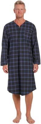 Noble Mount Men's Flannel Nightshirt