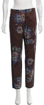 Dries Van Noten Mid-Rise Quilted Floral Pant