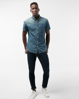 Express Short Sleeve Denim Shirt