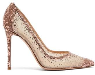Gianvito Rossi Rania 105 Crystal Embellished Pumps - Womens - Rose Gold