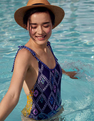 Aerie Crochet Trim One Piece Swimsuit
