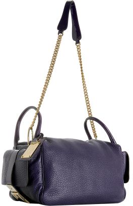 Dolce & Gabbana violet leather side handle bag