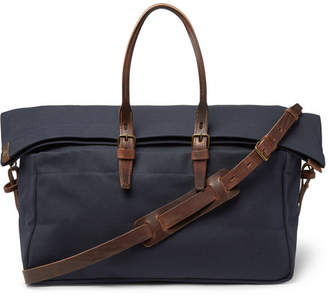 Bleu de Chauffe Cabine Leather-Trimmed Canvas Holdall
