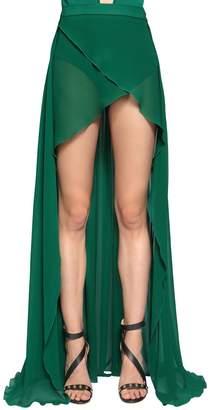 Elie Saab Silk Crepe Georgette Skirt