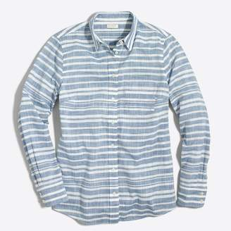J.Crew Factory Striped gauze boy shirt