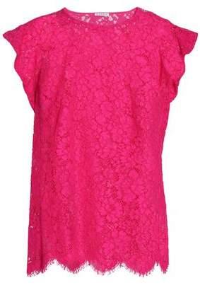 Claudie Pierlot Scalloped Cotton-Blend Corded-Lace Top