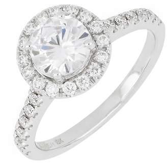 Bony Levy Pave Diamond Halo Round Engagement Ring Setting