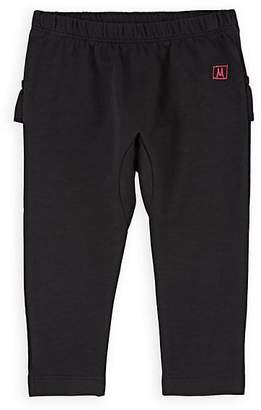 Munster Kids' Ruffled Cotton Terry Pants - Black