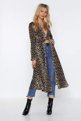 Nasty Gal Def Leopard Maxi Blouse