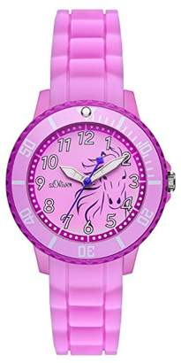S'Oliver Girls Quartz Watch with Silicone SO - 2987–PQ