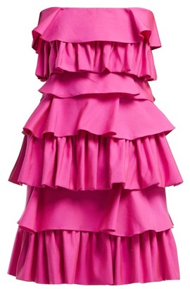 Emilio De La Morena Gloria Tiered Cotton Dress - Womens - Pink